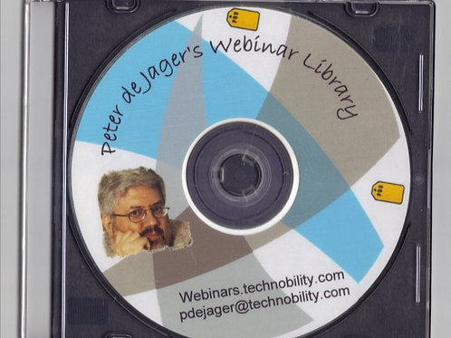 Collection of all Peter's webinars on a DVD