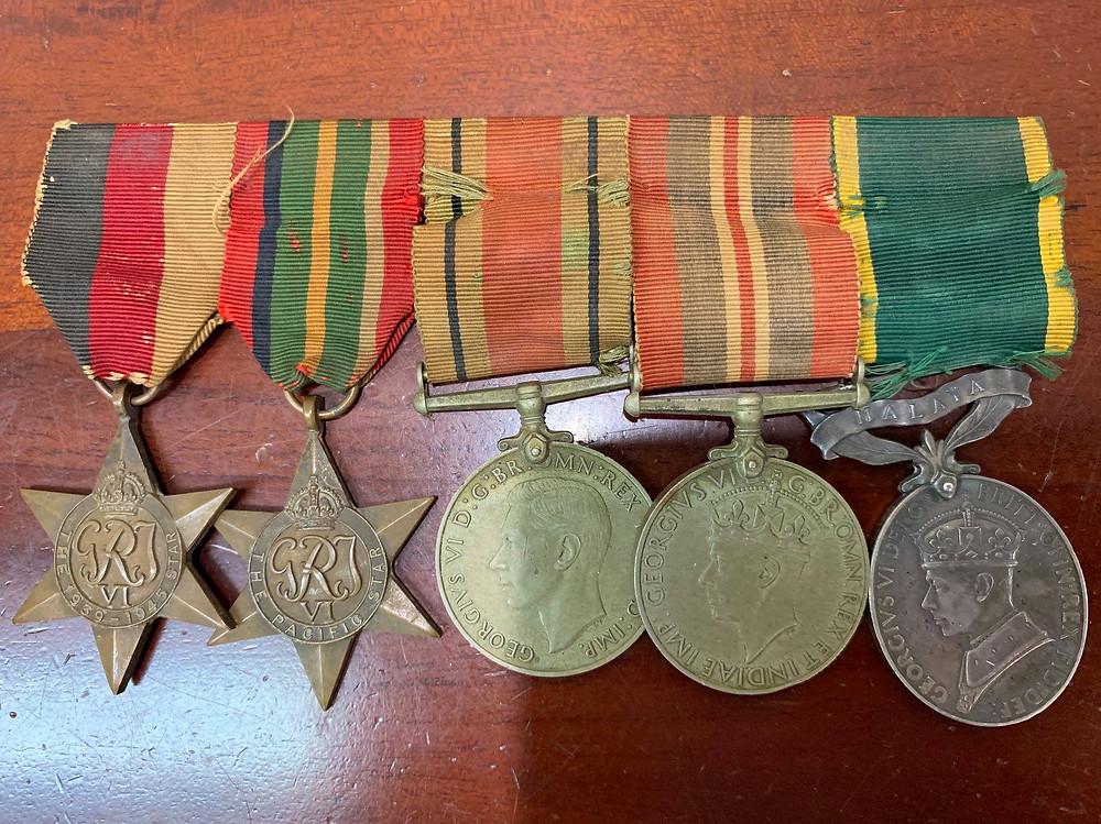 Original WW2 Australian Army Military Medals