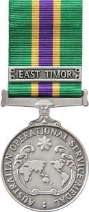 Civilian Australia Operational Service Medal (with clasp denoting an area of deployment)