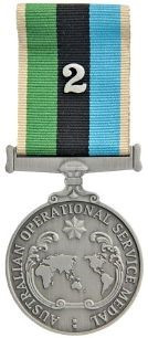 Greater Middle East Australia Operational Service Medal (with accumulated service device)