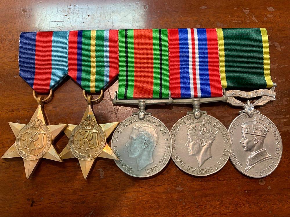 WW2 Australian Army Military Medals