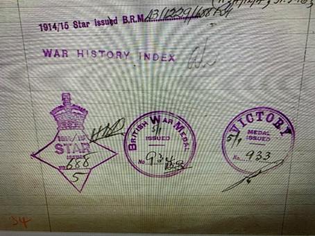 First World War Medal Entitlements
