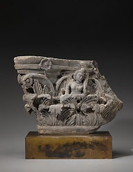 Fig 4 Gandhara pillar capital with Acant