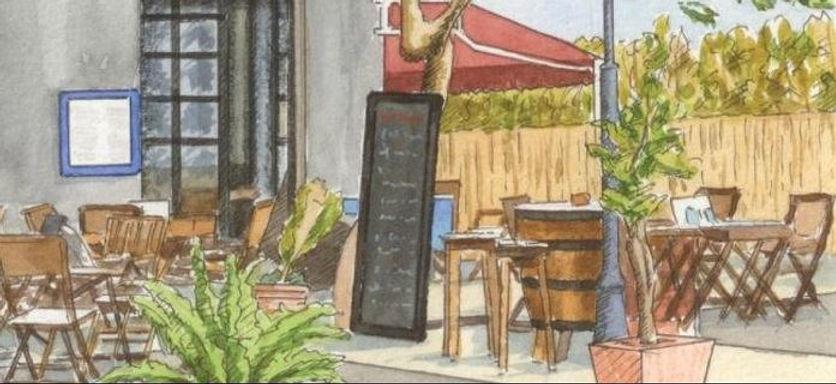Gezeichnetes Bild vom Restaurant Colorado