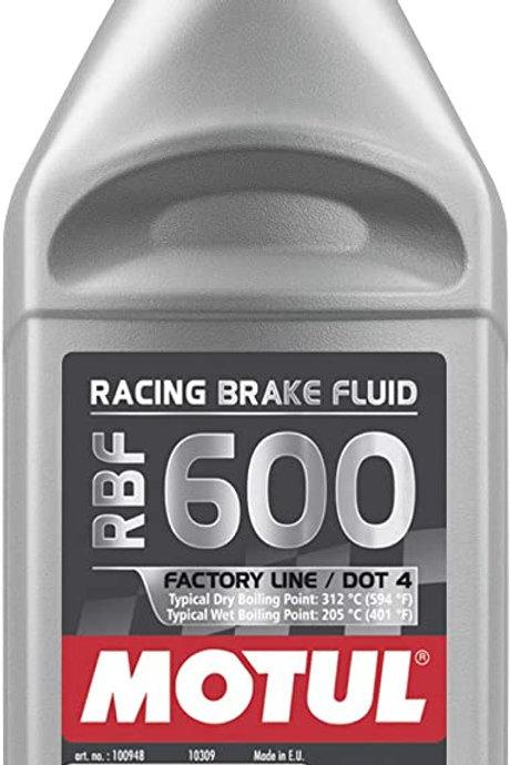 Motul RBF 600 Dot-4 100 Percent Synthetic Racing Brake Fluid