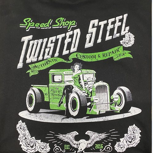 Twisted Steel Pinup Girl T-Shirt