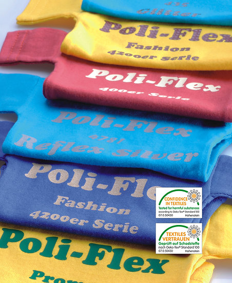 BOBINA POLI-FLEX TURBO COLORES ESTANDAR DE 50X25