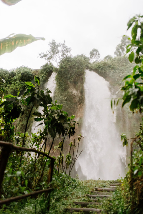 Private path to the waterfall