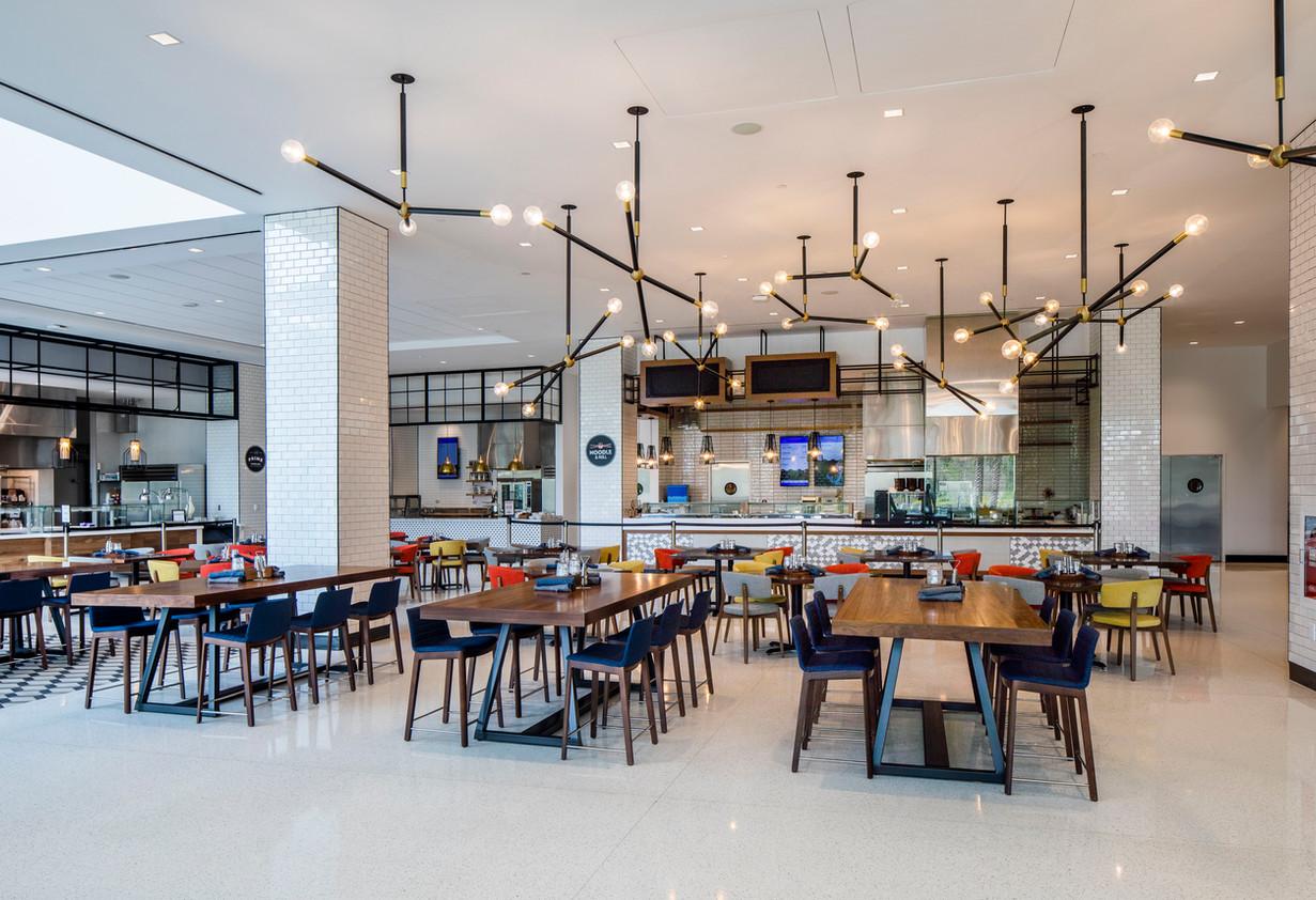 White Terrazzo Cafeteria