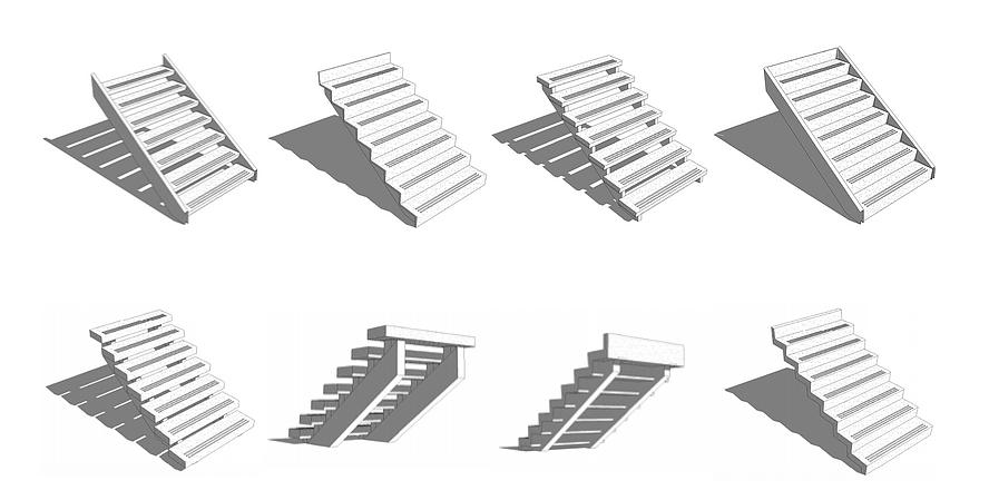 Terrazzo Stair Tread Revit Model Details