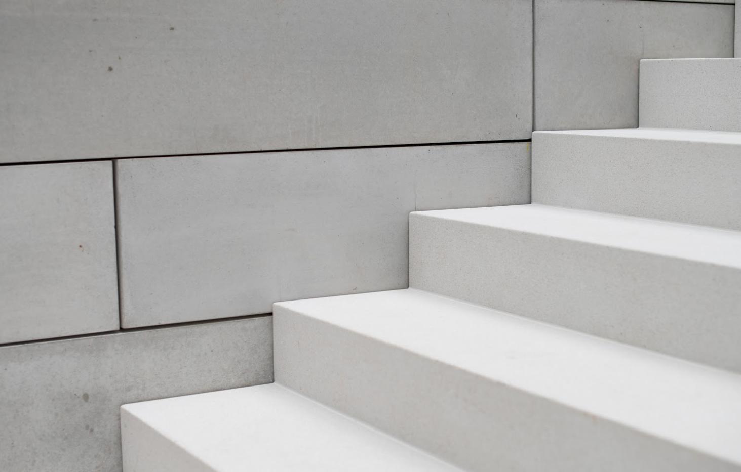 White Epoxy Terrazzo Stairs