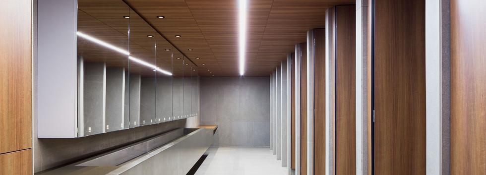 Walnut Ceiling and Bathroom Doors