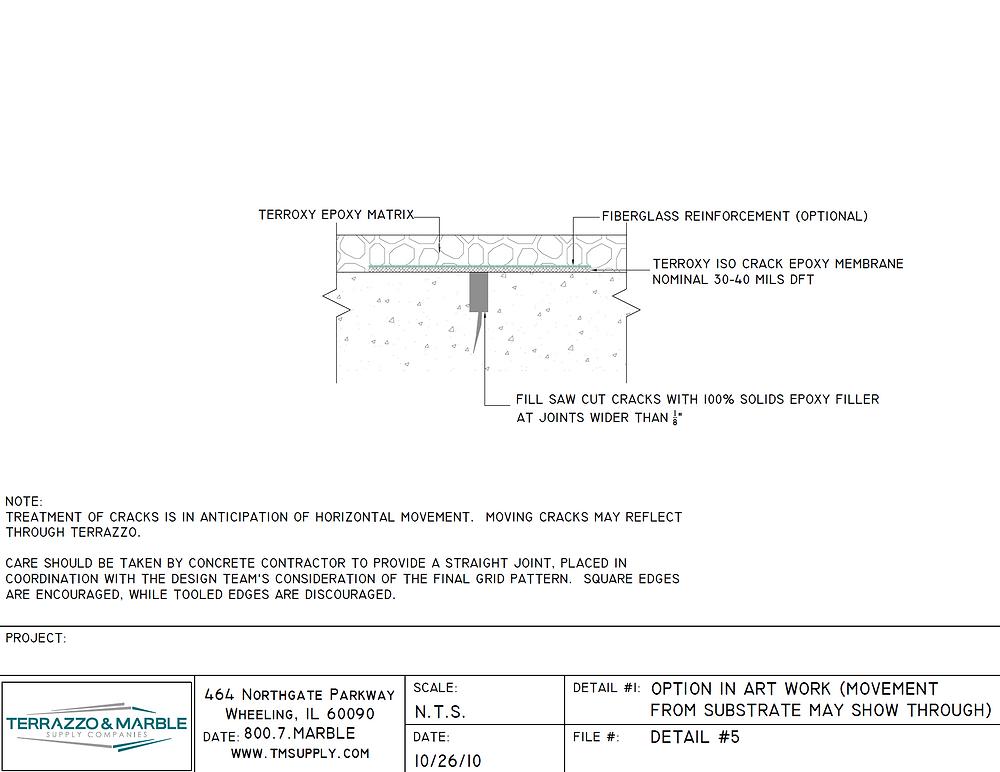 Terrazzo Joint Detail