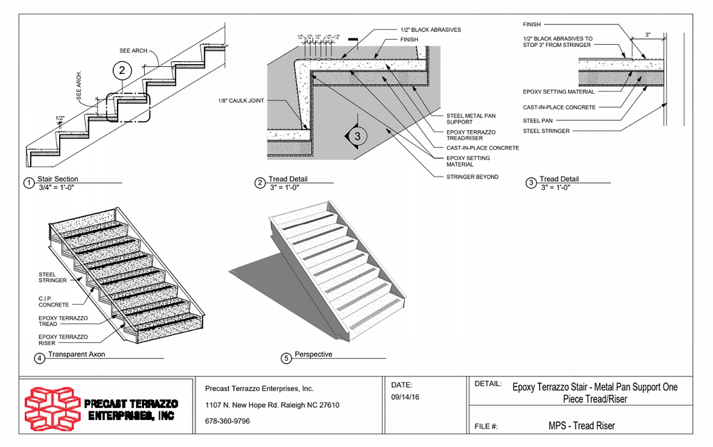 Terrazzo Stair Treads and Risers