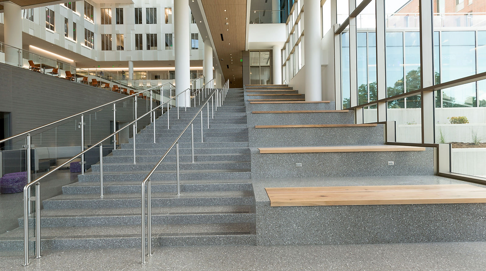 Precast Terrazzo Seating and Stairs