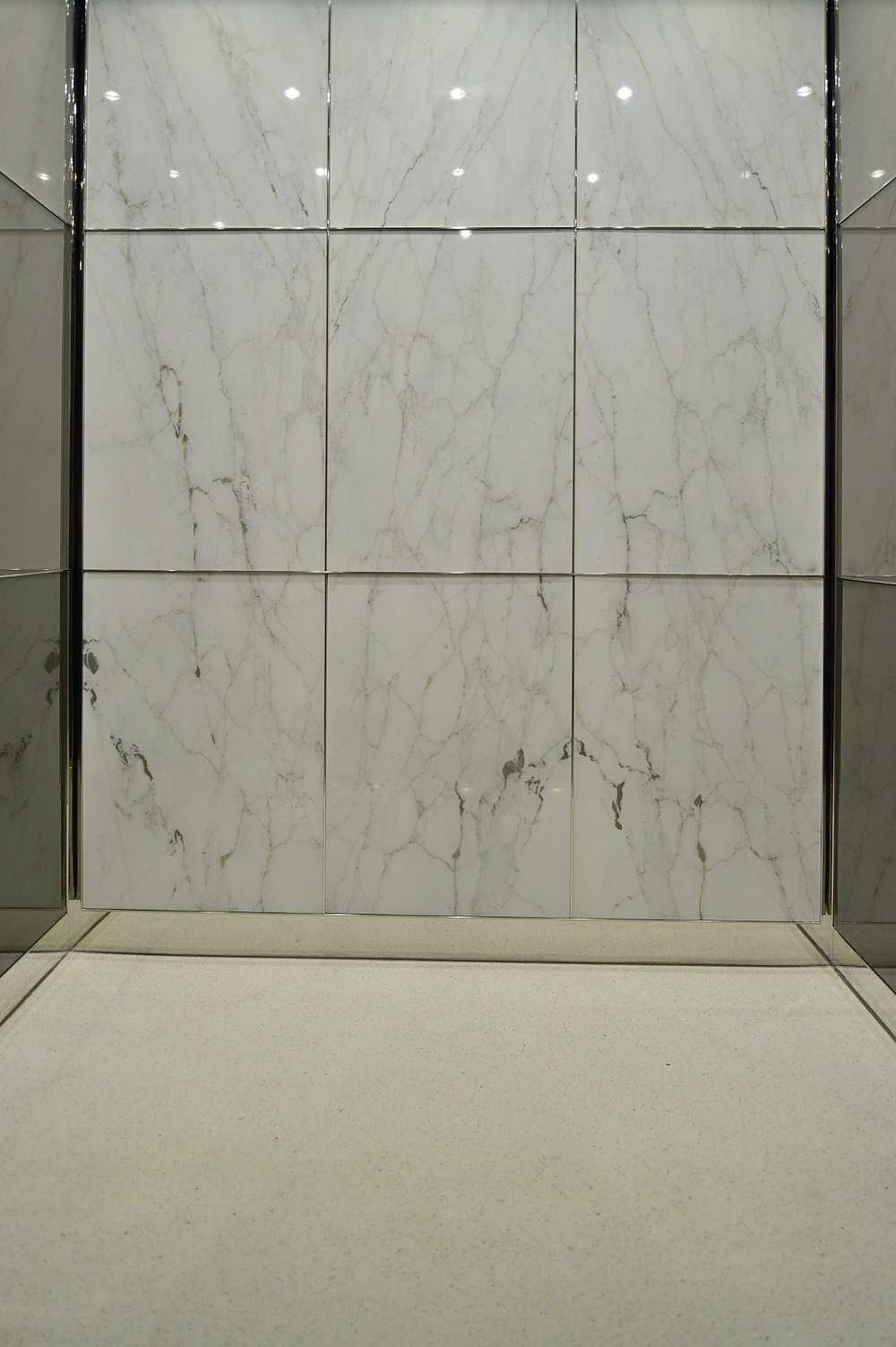 Poured in Place Terrazzo Elevator Cab