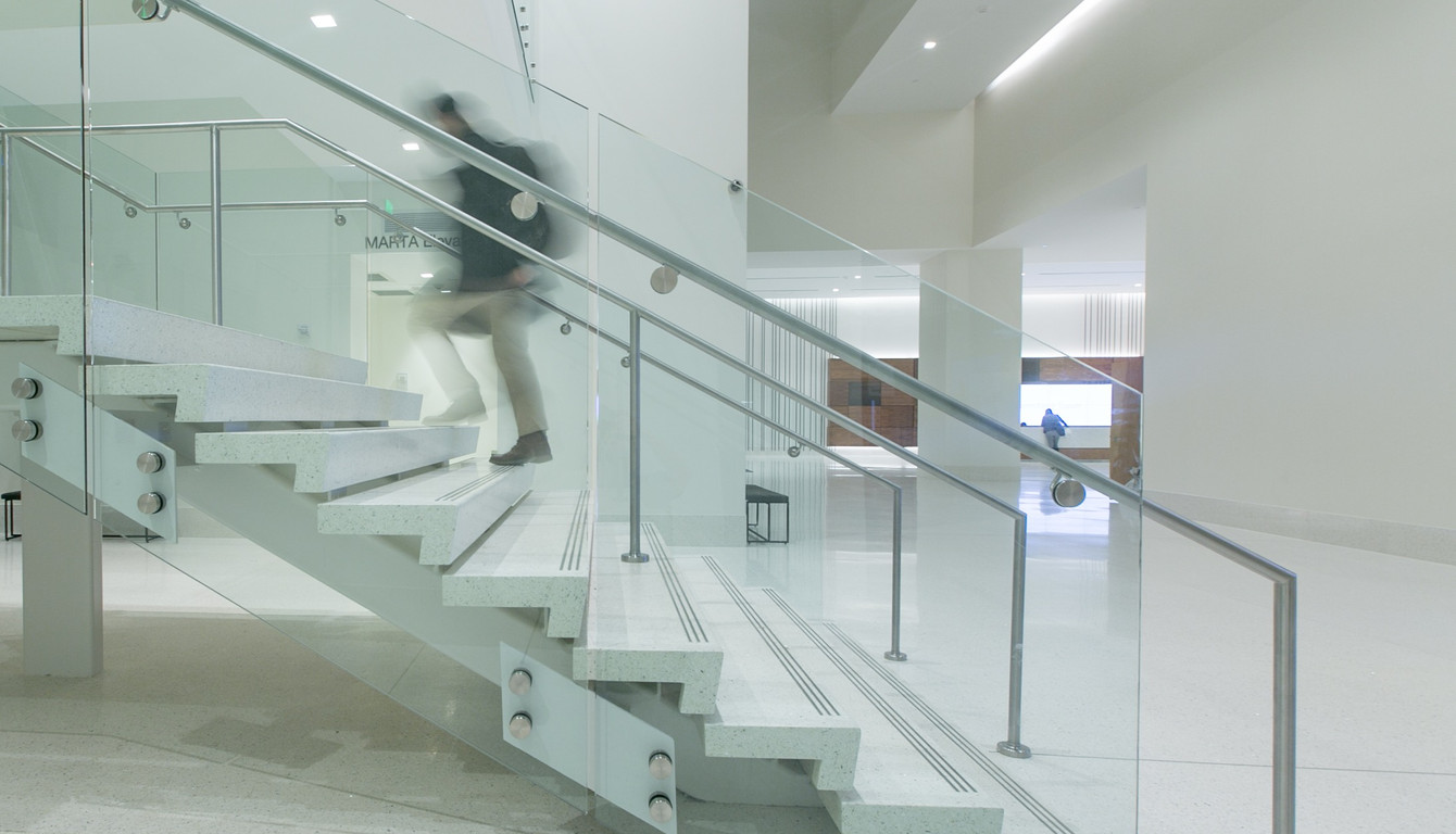 Floating Terrazzo Treads and Risers