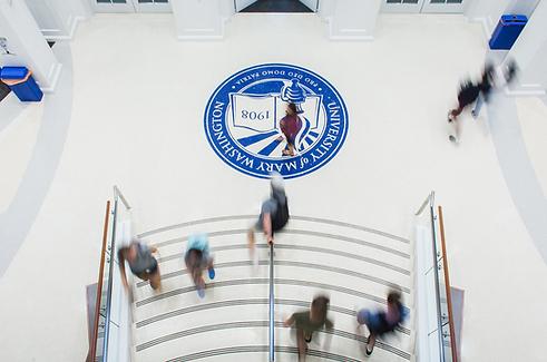 White Terrazzo with Blue Logo