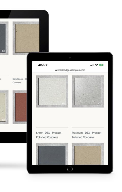 Colored Concrete Samples