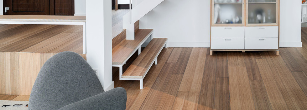 Wood Stair Tread Only Full Supported