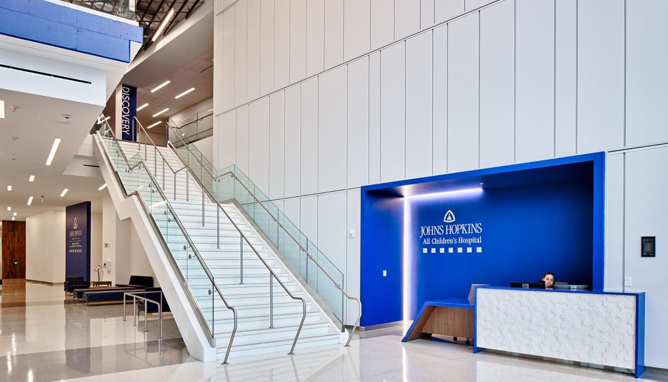 White Terrazzo Stair
