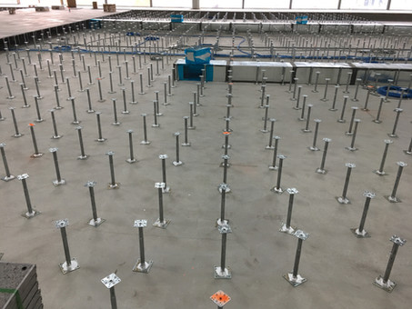 Terrazzo Over Raised Access Flooring