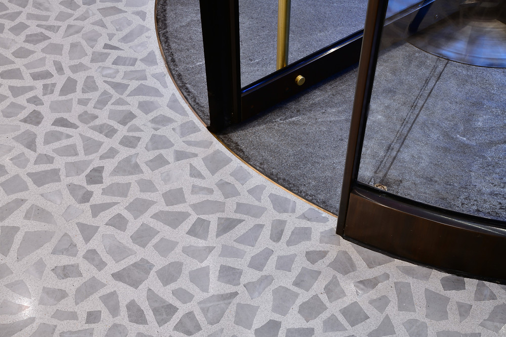 Terrazzo Flooring to Concrete Flooring Transtion