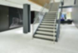 Precast Epoxy Terrazzo Stair Tread Only with metal non slip inserts