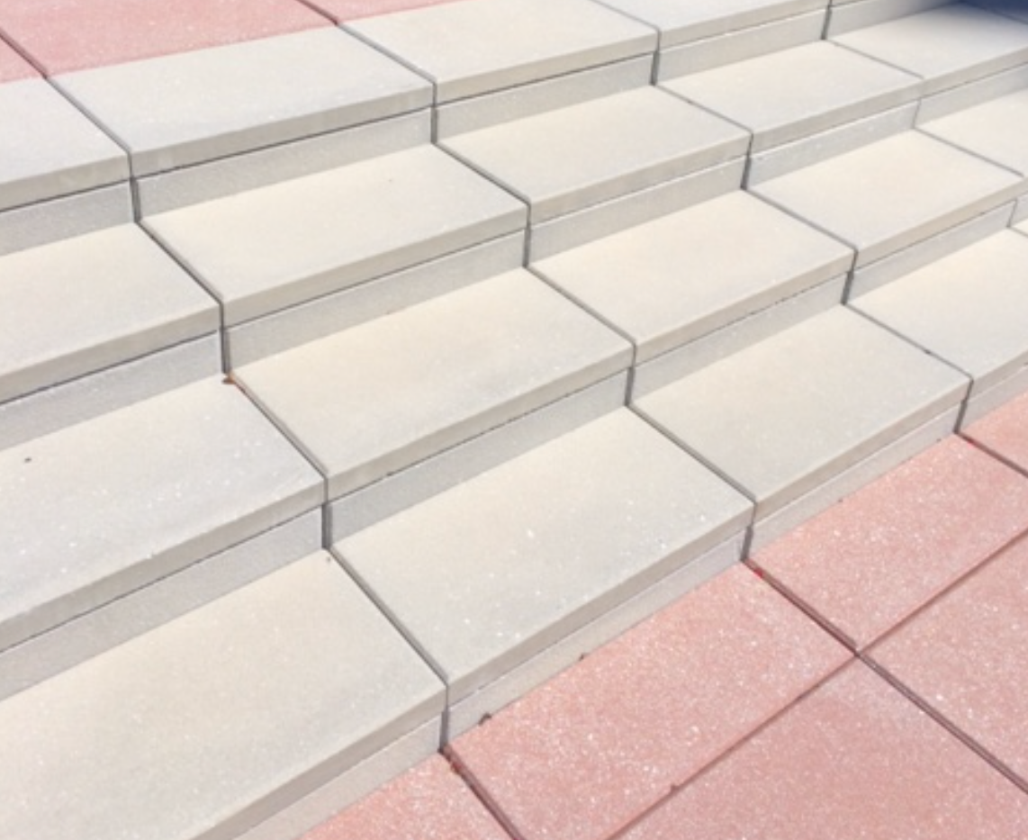 Paver Stair Tread Two Piece Tread Riser