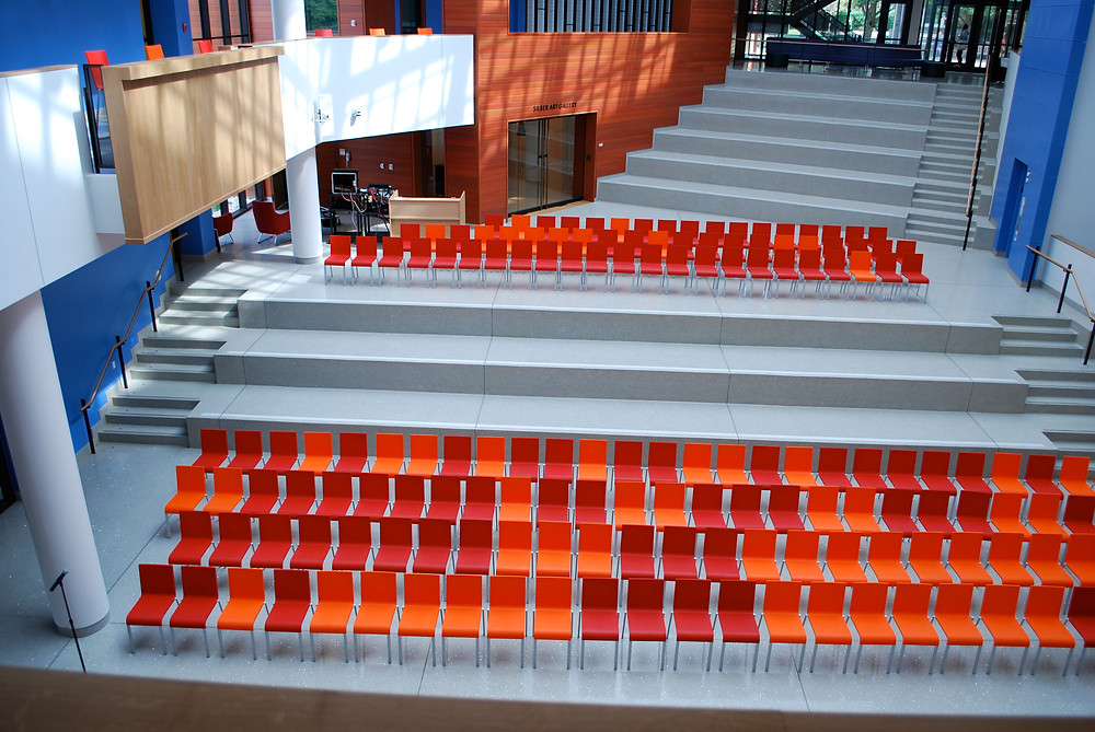 Poured in Place Terrazzo Seating and Stairs
