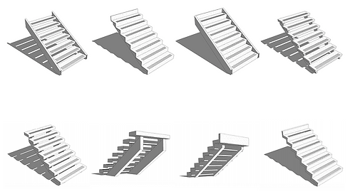 REVIT CAD Terrazzo Stair Details