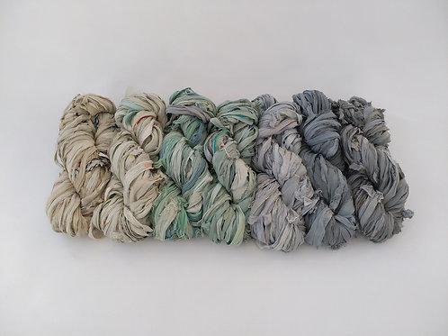 Recycled Sari Silk Chiffon Ribbon
