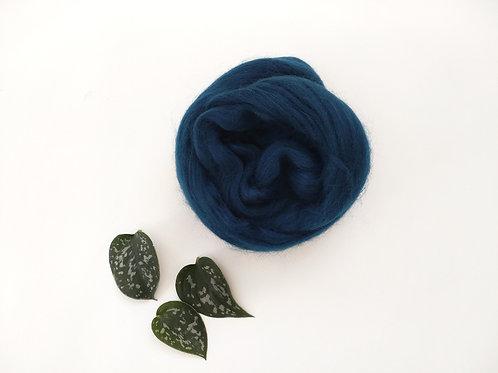 Navy Merino wool roving
