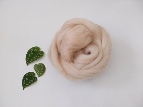 Fudge Merino wool roving top