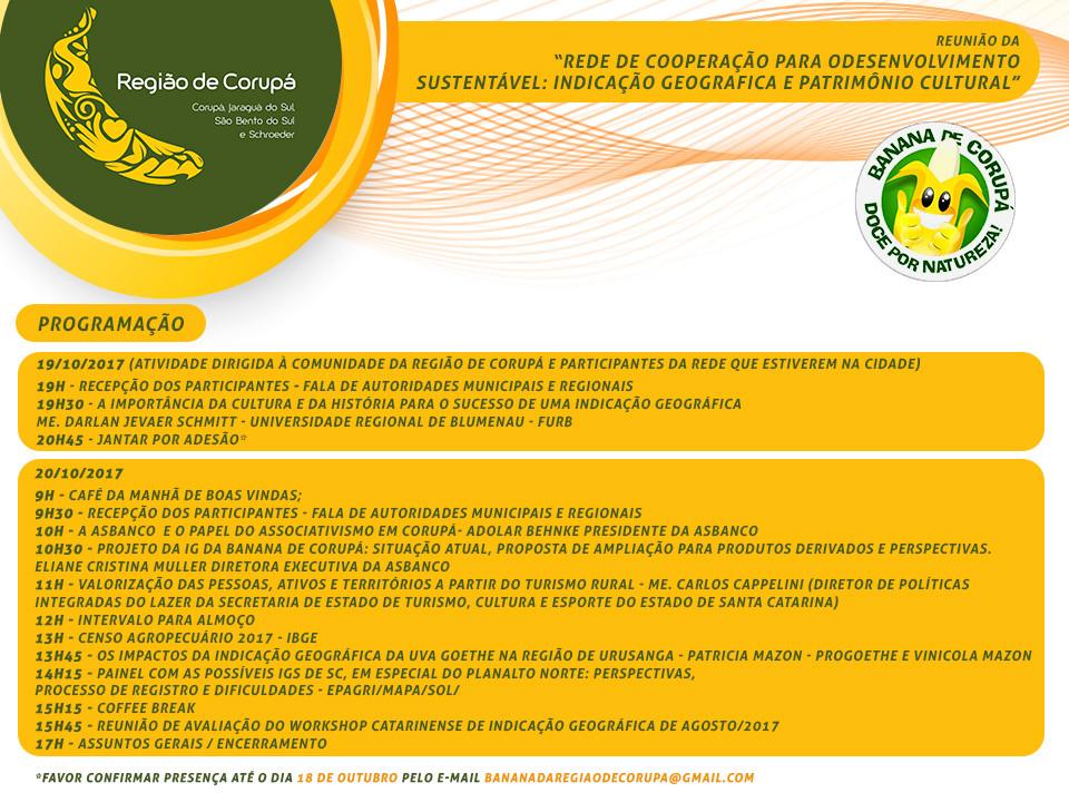 Convite da Reunião da Rede de Cooperação