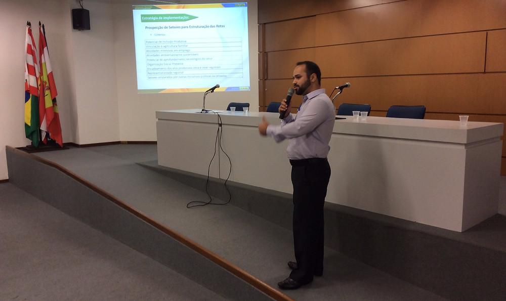 José Joaquim Carneiro Filho fala em nome do Ministério da Integração Nacional