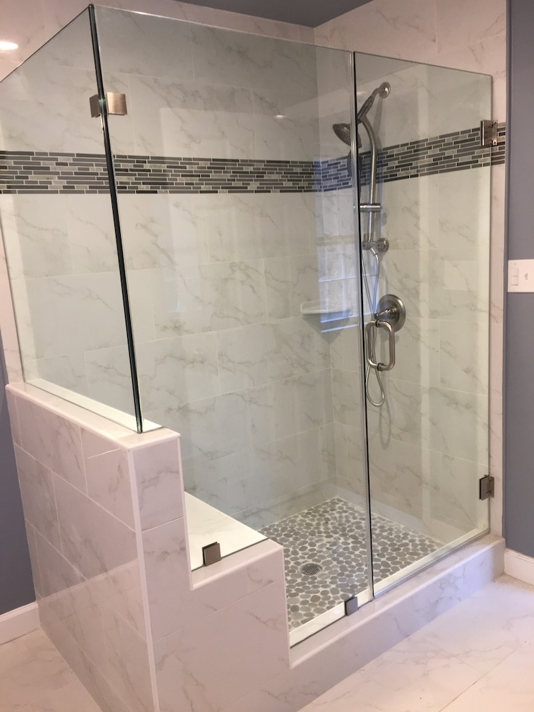 Finished Glass Shower