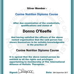 canine nutrition diploma