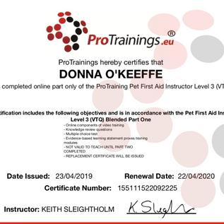 protraining first aid trainer cert