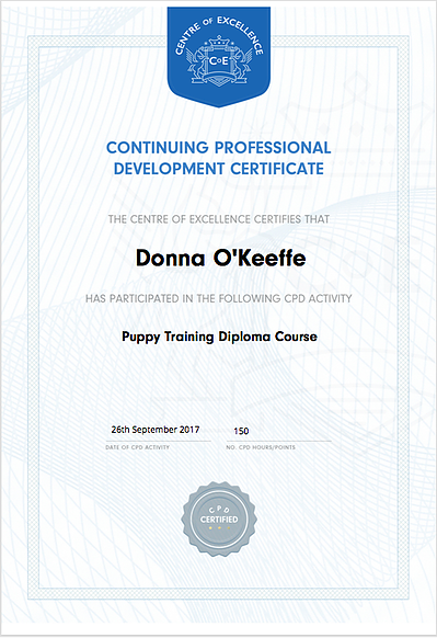Puppy Training Diploma