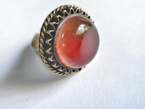 Amber Round Ring