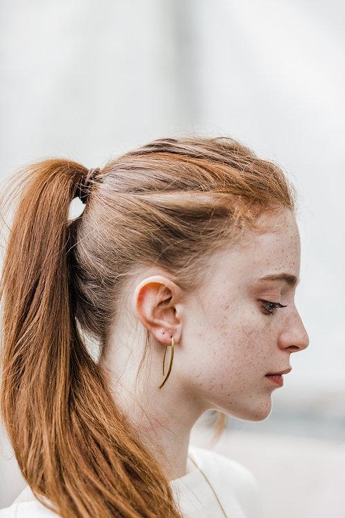 Recycled Brass Drop Earrings