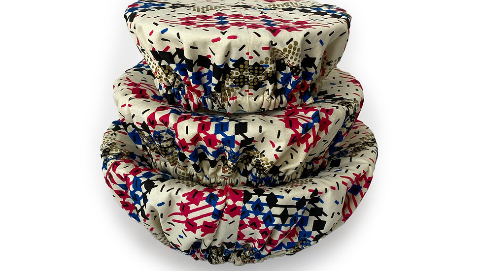 Flashy Honeycomb Bowl Covers (Set of 3)