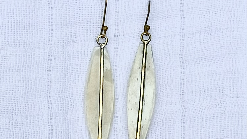 Dove Feather Earrings
