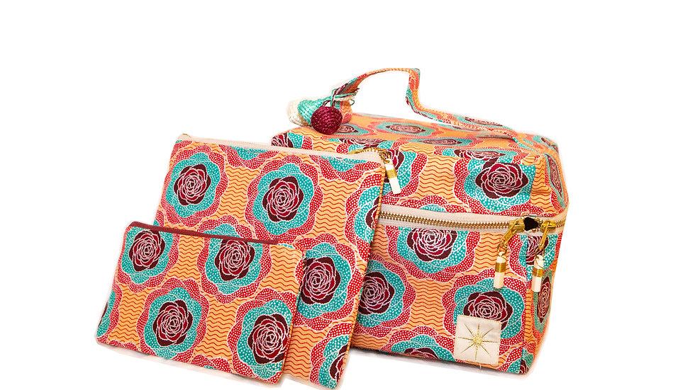 Bright Floral Makeup Bag