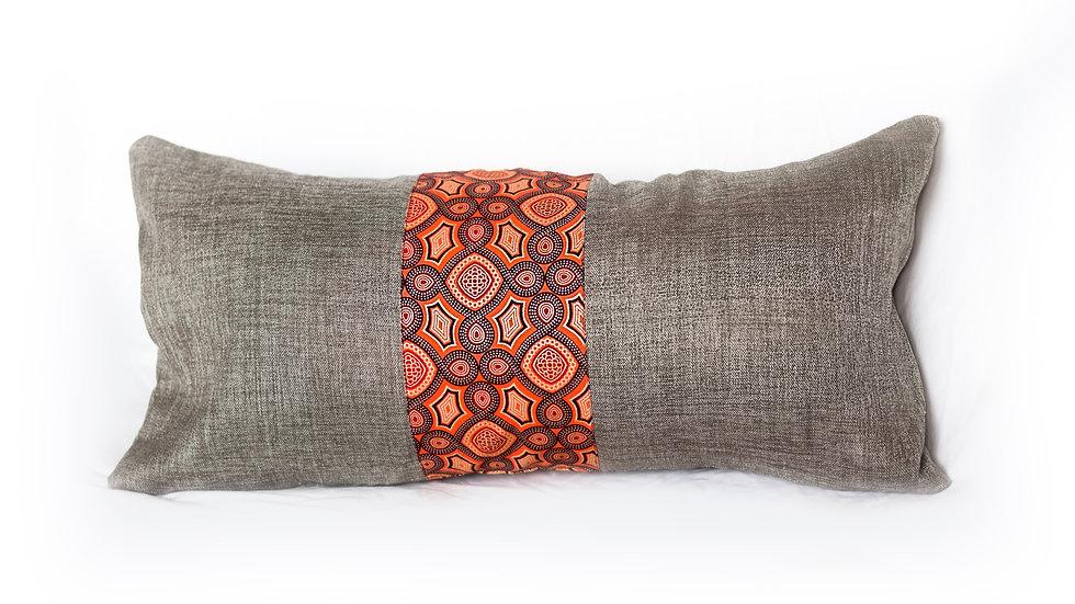 Coral Prism Lumbar Pillow
