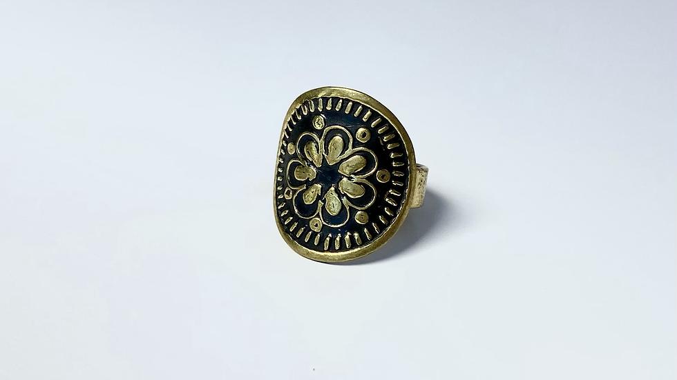 Flower Power Brass Ring