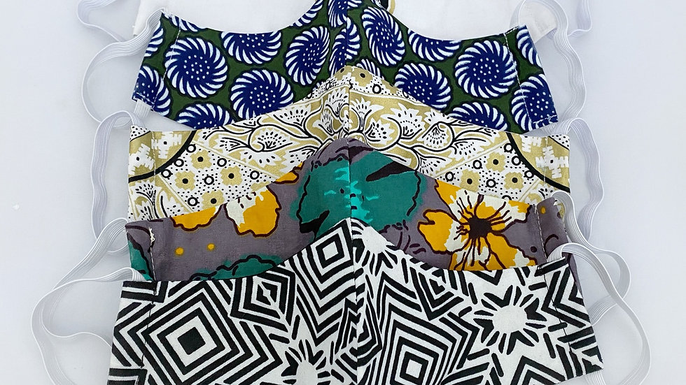 African Print Masks (Pack of 3)