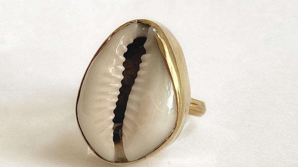 Ivory Cowry Ring