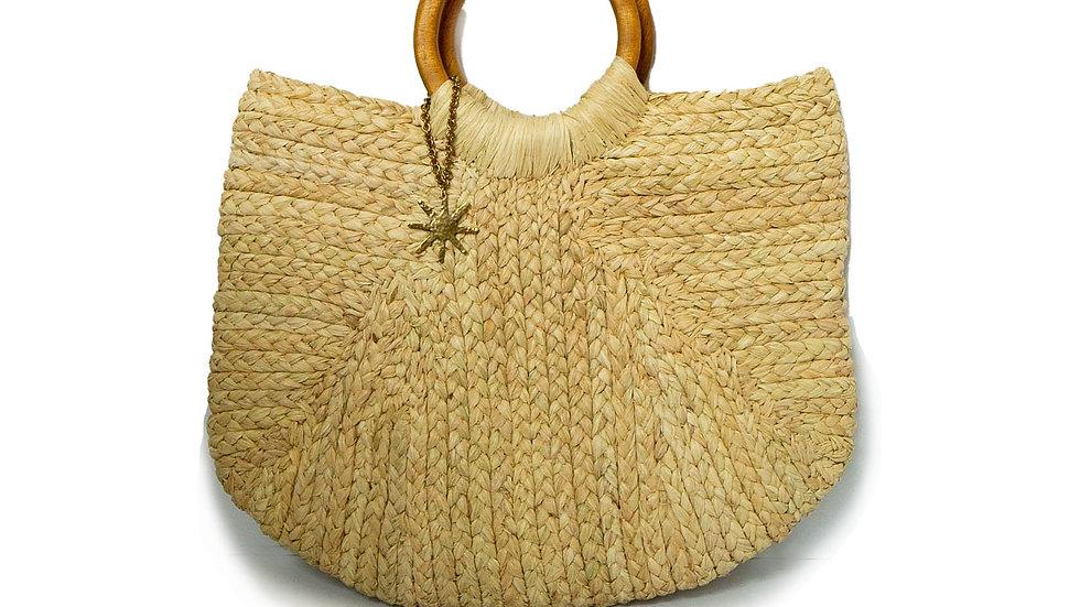 Woven Beach Bag - Round Handle